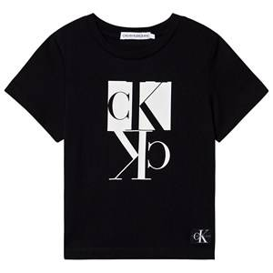 Image of Calvin Klein Jeans Monogram Logo Tee Black 6 years