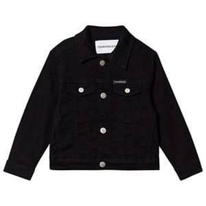 Image of Calvin Klein Jeans Trucker Denim Jacket Black 6 years