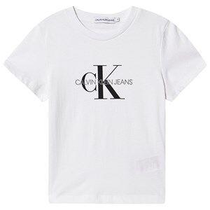 Image of Calvin Klein Jeans Monogram Logo Tee Bright White 4 years