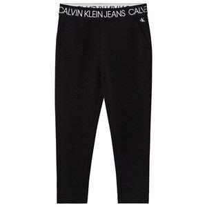 Image of Calvin Klein Jeans Logo Sweatpants Black 6 years