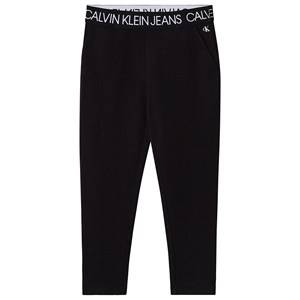 Image of Calvin Klein Jeans Logo Sweatpants Black 4 years