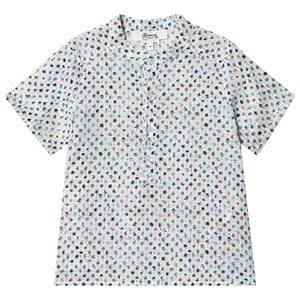 Bonpoint Palm Tree Print Short Sleeve Shirt White 4 years