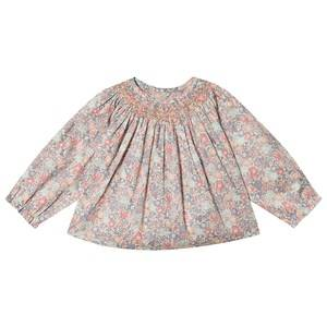 Bonpoint Pink Floral Liberty Print Smocked Blouse 12 months