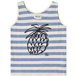 Image of Bobo Choses Pineapple Striped Tank Top Blue Stripes 6-7 Years