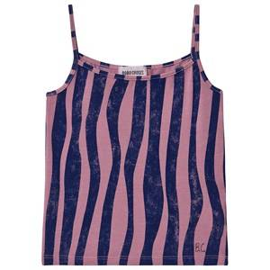 Image of Bobo Choses Groovy Stripes Tank Top Heather Rose 4-5 Years