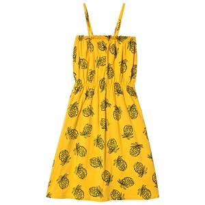Image of Bobo Choses Pineapple Jersey Dress Spectra Yellow 2-3 Years