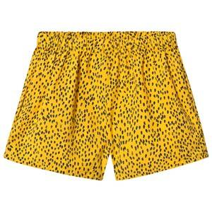 Image of Bobo Choses Leopard Woven Shorts Spectra Yellow 10-11 Years