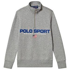 Ralph Lauren POLO Sport Half Zip Sweatshirt Grey 6 years