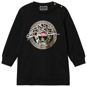 Image of Versace Medusa Sweater Dress Black 36 months