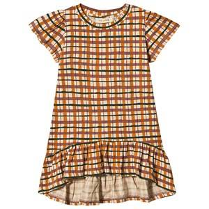 Image of Soft Gallery Fenella Dress Check Winter Wheat 4 years