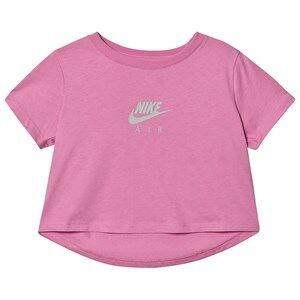 NIKE Logo Cropped Tee Pink M (10-12 years)