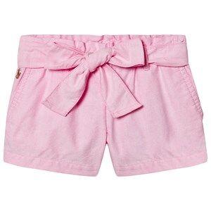 Ralph Lauren Tie Waist Oxford Shorts Pink 4 years