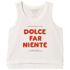 Image of Tinycottons Dolce Far Niente Tank Top Off White/Red 6 Years