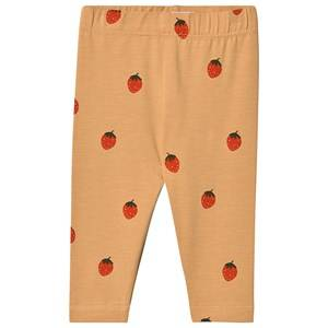 Image of Tinycottons Strawberries Baby Leggings Toffee/Red 12 Months