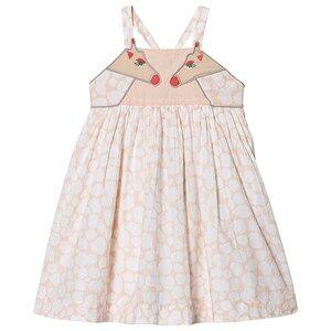 Stella McCartney Kids Giraffe Print Dress Pale Pink 4 years