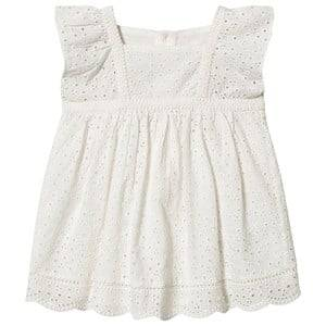 Image of Bonpoint Cherry Anglais Embroidered Dress White 12 months