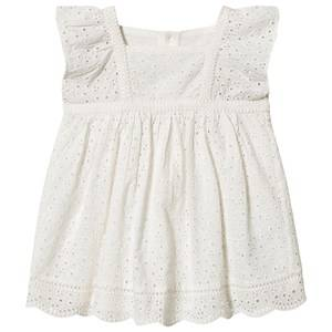 Image of Bonpoint Cherry Anglais Embroidered Dress White 2 years