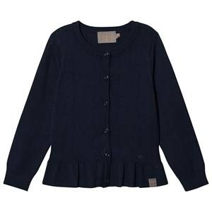 Creamie Pointelle Frill Cardigan Total Eclipse 140 cm (9-10 Years)