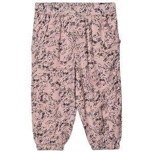 Creamie Flower Outline Pants Rose Smoke 104 cm (3-4 Years)