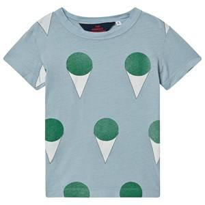 The Animals Observatory Hippo T-Shirt Blue Ice Cream 3 Years