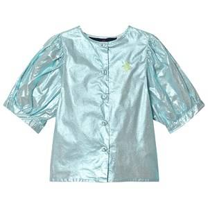 The Animals Observatory Hawk Top Blue/Green Logo 8 Years