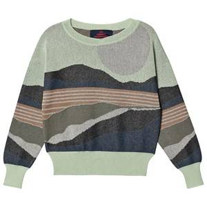 The Animals Observatory Sunrise Bull Sweater Soft Green 6 Years