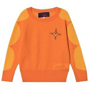 The Animals Observatory Dots Bull Sweater Orange Logo 2 Years