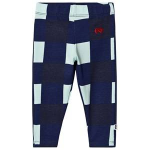Image of Beau Loves Gingham Baby Leggings Navy and Pale Green 12-18 Months