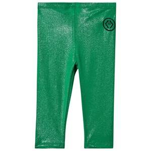 Image of The Animals Observatory Bright Alligator Leggings Green Logo 3 Years