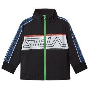 Image of Stella McCartney Kids Stella Sport Tape Logo Jacket Black 2 years