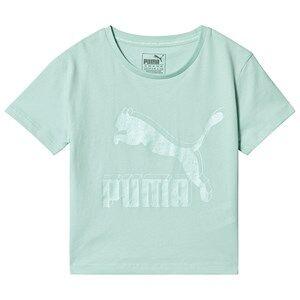 Puma Iridescent Logo Classic T-Shirt Green 9-10 years