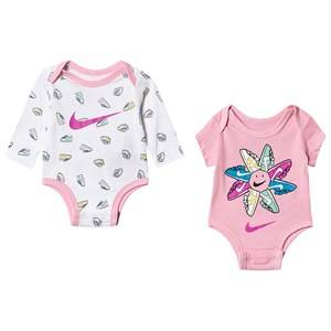 Image of NIKE 3-Pack Baby Body and Leggings Set Grey/Pink 6 months