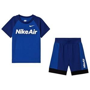NIKE 2-Piece Set Nike Air T-Shirt and Shorts Blue 2-3 years