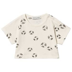 Sproet & Sprout Rubber Ring Cropped Terry Tee Cream 92-98 (2-3 years)