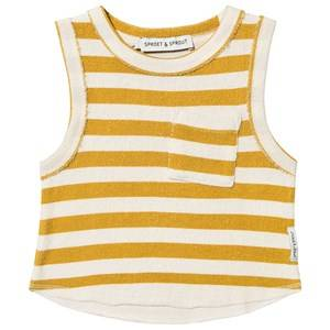 Image of Sproet & Sprout Stripe Terry Tank Top Mustard/Cream 92-98 (2-3 years)