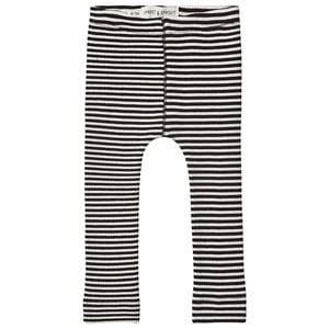 Image of Sproet & Sprout Stripe Ribbed Leggings Black/White 92-98 (2-3 years)
