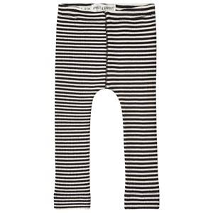 Image of Sproet & Sprout Stripe Ribbed Leggings Black/White 98-104 (3-4 years)