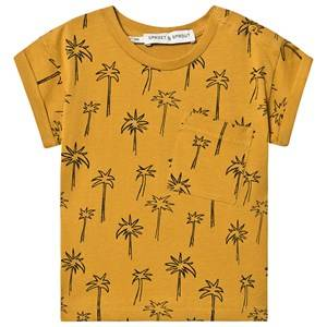 Sproet & Sprout Palm Tree Tee Mustard 98-104 (3-4 years)
