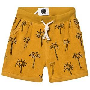 Sproet & Sprout Palm Tree Terry Shorts Mustard 98-104 (3-4 years)