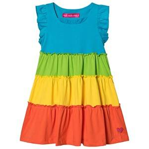 Agatha Ruiz de la Prada Colorblock Frill Dress Rainbow 6 years