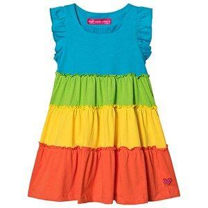 Agatha Ruiz de la Prada Colorblock Frill Dress Rainbow 5 years