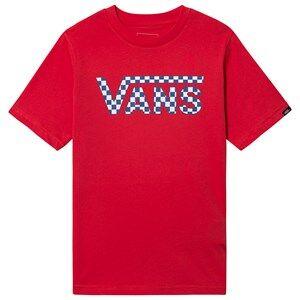 Image of Vans Racing Logo T-Shirt Red XL (14+ years)