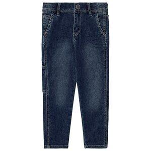 Image of IKKS Denim Tapered Jeans Medium Blue 4 years