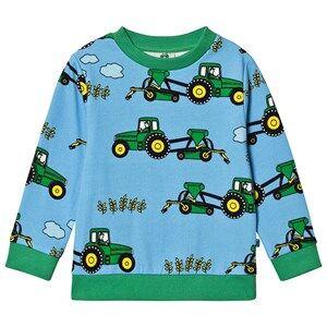 Smfolk Tractor Sweatshirt Blue Grotto 3-4 Years