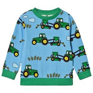 Smfolk Tractor Sweatshirt Blue Grotto 7-8 Years