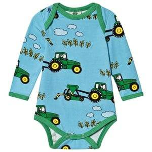 Image of Smfolk Tractor Baby Body Blue Grotto 68 cm (4-6 Months)