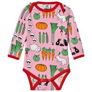 Image of Smfolk Vegetables Baby Body Sea Pink 56 cm (1-2 Months)
