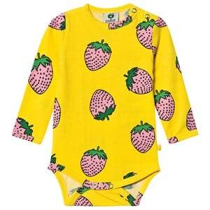 Image of Smfolk Strawberry Baby Body Yellow 56 cm (1-2 Months)