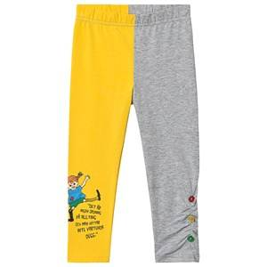 Pippi Lngstrump Pippi Lngstrump Quote Leggings Yellow 104 cm (3-4 Years)