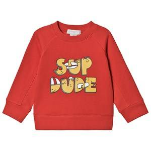 Stella McCartney Kids Sup Dude Sweatshirt Red 12 years